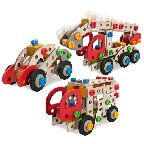 Heros Klocki konstrukcyjne 3w1 155 el. ciężarówka koparka auto