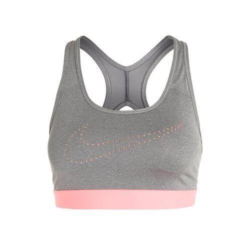 Nike Performance PRO CLASSIC Biustonosz sportowy carbon heather/dark grey/lava glow, 832084