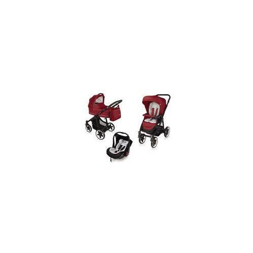 Wózek wielofunkcyjny 3w1 Lupo Comfort + Leo Baby Design (dark red)