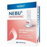 Nebu Hipertonic, roztwór hipertoniczny do inhalacji, 30 ampułek po 5ml - Długi termin ważności! DARMOWA DOSTAWA od 39,99zł do 2kg! (5903060612457)