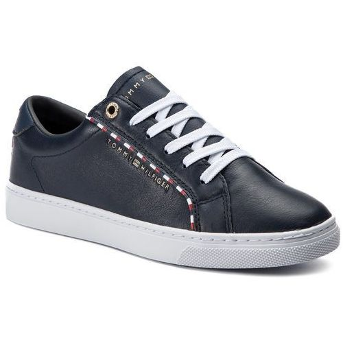 346bd494e91c7 Tommy Hilfiger Sneakersy TOMMY HILFIGER - Corporate Detail Sneaker  FW0FW04149 Midnight 403