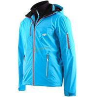 Kurtka trekkingowa męska KUMT002 4F (jasny niebieski)