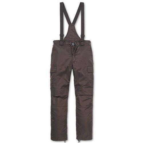 spodnie ocieplane ogrodniczki thermo next generation brązowe - brązowy marki Brandit
