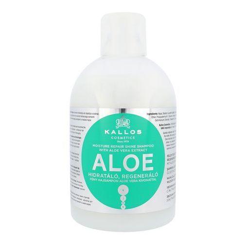 Kallos aloe vera moisture repair shine shampoo 1000ml w szampon do włosów - Promocyjna cena