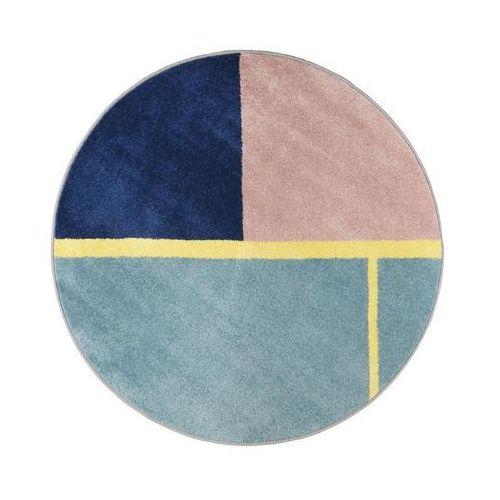 Dywan Okrągły Ring Niebieski śr 100 Cm Agnella