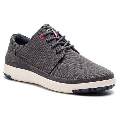 9103b6e9acba1 Tommy hilfiger Sneakersy - light material mix lace up shoe fm0fm02069  magnet 008 - foto