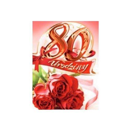 Art Nouvo Kartki Karnet 80 Urodziny B6 Cyfry Dla