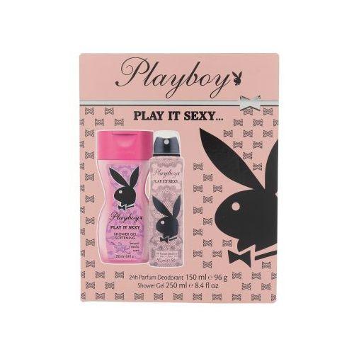 Playboy Play It Sexy For Her zestaw Deodorant 150ml + 250ml Żel pod prysznic dla kobiet
