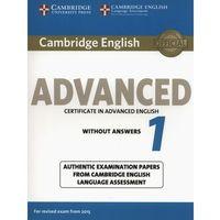 Cambridge English Advanced 1 Student's Book without answers - wyślemy dzisiaj, tylko u nas taki wybór !!! (104 str.)