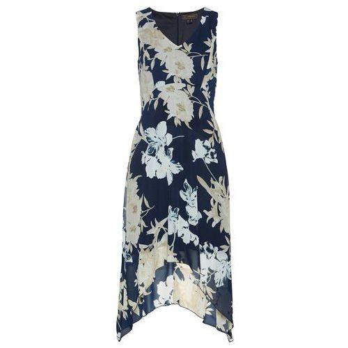 Sukienka z nadrukiem bonprix niebieski z nadrukiem