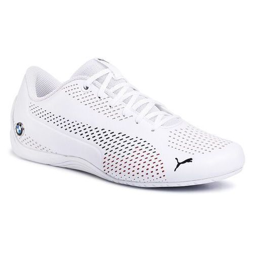 Puma Sneakersy - bmw mms drift cat 5 ultrallm 306495 02 puma white/puma white/marina