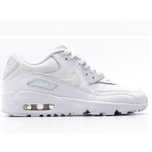 Damskie air max90 833412-100 całe białe / skóra, Nike, 36-40