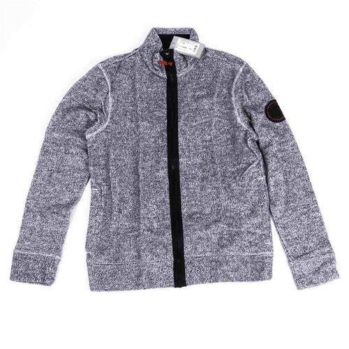 Bluza - funnel zipper structured felpa grey marl (11251) rozmiar: l marki Bench