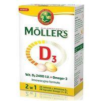 Kapsułki Mollers D3 2400 I.U.+ Omega 3 x 28 kapsułek + 28 tabletek - data ważności 30-09-2018r.