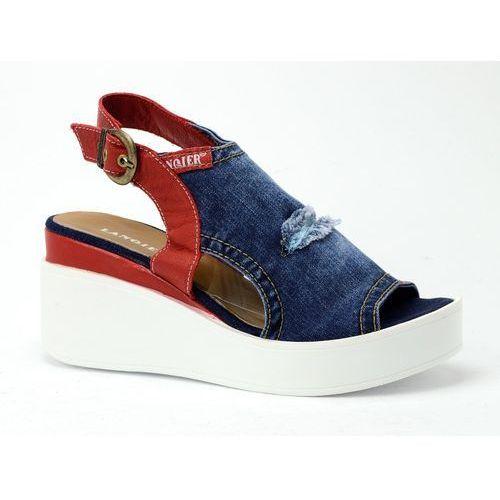 Sandały 40C291 jeans, 1 rozmiar (Lanqier)