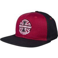 czapka z daszkiem INDEPENDENT - ITC Bauhaus Cap Burgundy/Black (BURGUNDY-BLACK) rozmiar: OS
