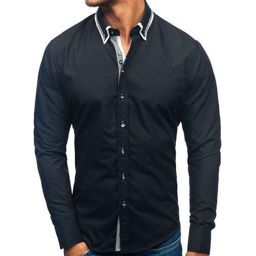 2deb770f9f50 ... Bolf Koszula męska elegancka z długim rękawem czarna 3704-1 - Foto ...