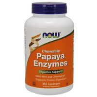 Now Foods Papaja Enzymy (Papaya Enzymes) 360 tabletek do ssania