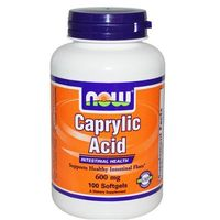 Now Foods Kwas Kaprylowy Caprylic Acid 600mg 100 kaps.