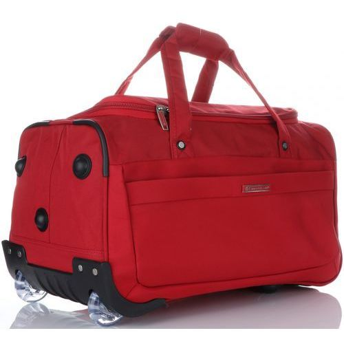 52dcaa83eddbe Duża torba podróżna xl na kółkach ze stelażem czerwona (kolory) Snowball