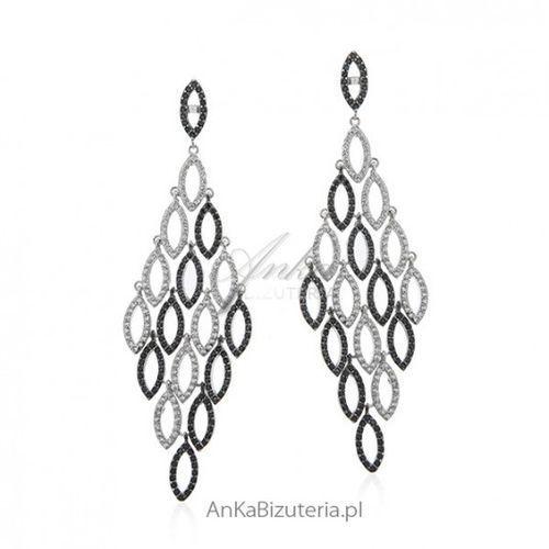 297174377e8799 Ankabizuteria.pl Długie kolczyki srebrne z cyrkoniami - piękne kaskady