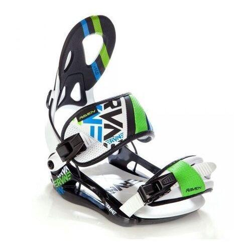 Wiązania snowboardowe s250 (black/white/green) 2019 marki Raven