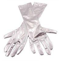 Rękawiczki karnawałowe srebrne - cm.