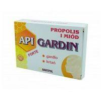 API-GARDIN Pastylki propolisowe Forte Propolis i Miód na gardło krtań 16szt (5907799203061)