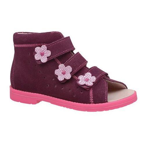 Sandałki Profilaktyczne Ortopedyczne Buty DAWID 1042 Fiolet FC2 Z18 - Fioletowy ||Różowy ||Multikolor, kolor fioletowy
