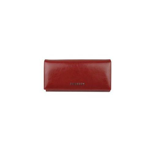 2297b5e6050fd Czerwony portfel damski skórzany PL 807 (PETERSON) - sklep ...