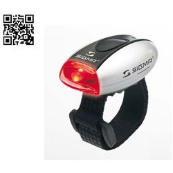 lampka rowerowa micro tylna - srebrna marki Sigma