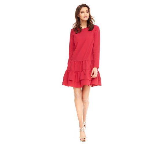 Sukienka cambriee w kolorze czerwonym marki Sugarfree