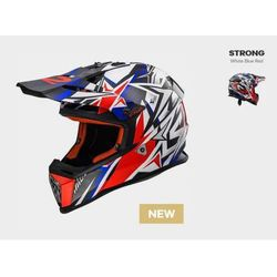 Ls2 Kask mx437 fast strong w/blue red