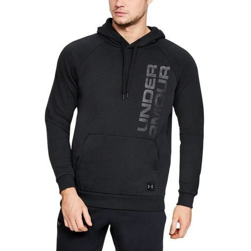 Under Armour Bluza z kapturem RIVAL FLEECE SCRIPT HOODY Czarna - Czarny