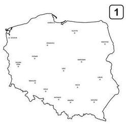 tablica suchościeralna mapa Polski 239