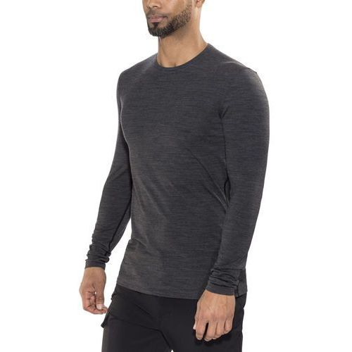 koszulka funkcyjna mens anatomica ls crewe jet hthr/black/jet hthr xxl marki Icebreaker