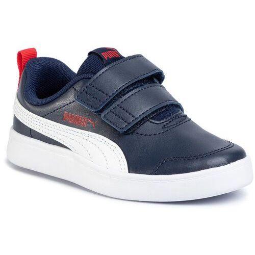 Puma Sneakersy - courtflex v2 v ps 371543 01 peacoat/high risk red