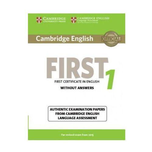 Cambridge English First 1 Student's Book without answers - wyślemy dzisiaj, tylko u nas taki wybór !!!, CAMBRIDGE UNIVERSITY PRESS