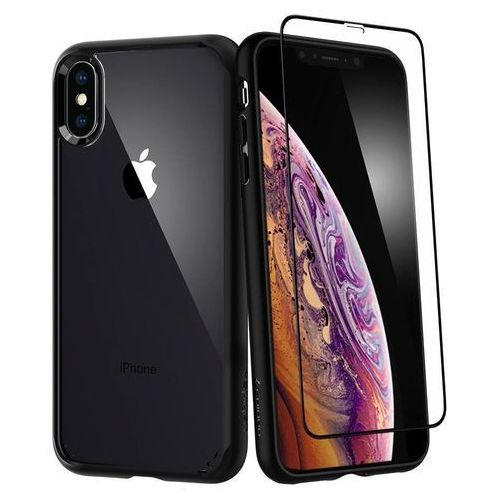 f1168c4d0e2f0d Etui Spigen Ultra Hybrid 360° Szkło Apple iPhone Xs Max Black, kolor czarny  -