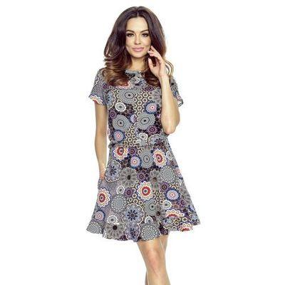 16b566c3ac01c6 suknie sukienki koronkowa rozkloszowana sukienka brzoskwiniowa candy ...