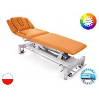 Stół rehabilitacyjny Terapeuta M-S7.F4 z elektryczną regulacją wysokości z ramy i funkcją fotela