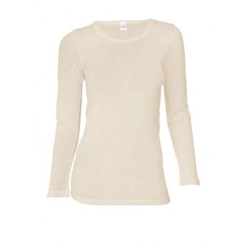 Koszulka damska z wełny merynosów (100%) - długie rękawy ) - kremowa (prod. dilling) marki Dilling (dania)