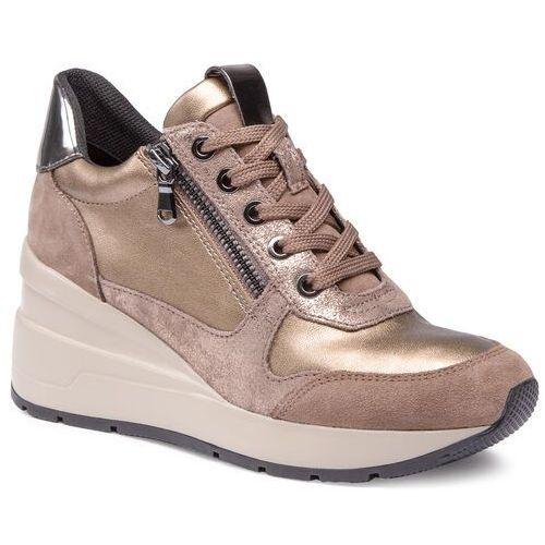 Sneakersy GEOX - D Zosma B D048LB 022NF C5MR6 Dk Beige/Tobacco, kolor żółty
