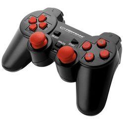 "Esperanza Gamepad ps2/ps3/pc usb ""corsair"" czarno/czerwony"