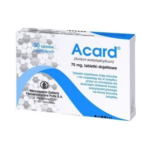 Acard 75mg x 30 tabletek Polfa warszawa