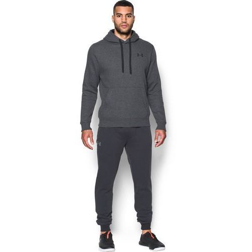 Under armour bluza z kapturem rival fitted pull over szara - szary