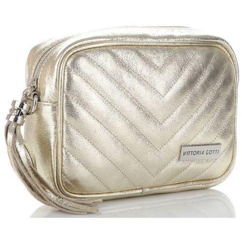 0df5a1ac537a0 Zobacz ofertę Modne i eleganckie torebki skórzane listonoszki złote  (kolory) Vittoria gotti