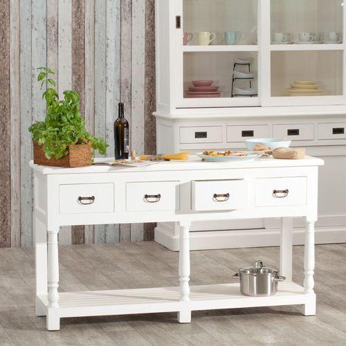 wyspa kuchenna brighton 4 szuflady white, 149x48x84cm marki Dekoria