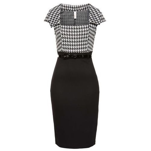 Sukienka biznesowa bonprix czarno-biały, w 6 rozmiarach