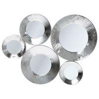 :: lustro circoli cinque silver 46x62cm marki Kare design